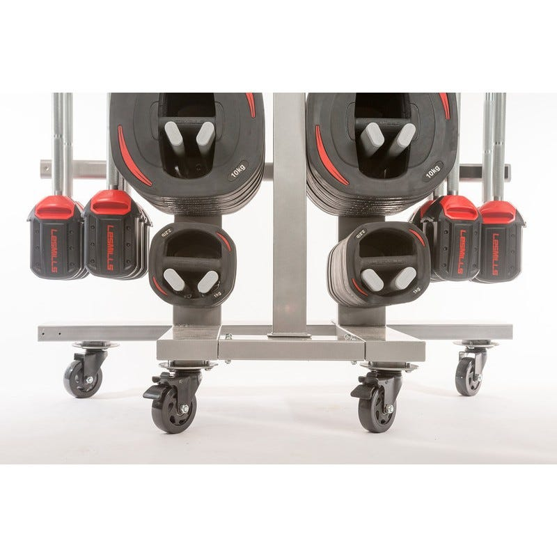 Les Mills SMARTBAR™ rack on a wheel kit