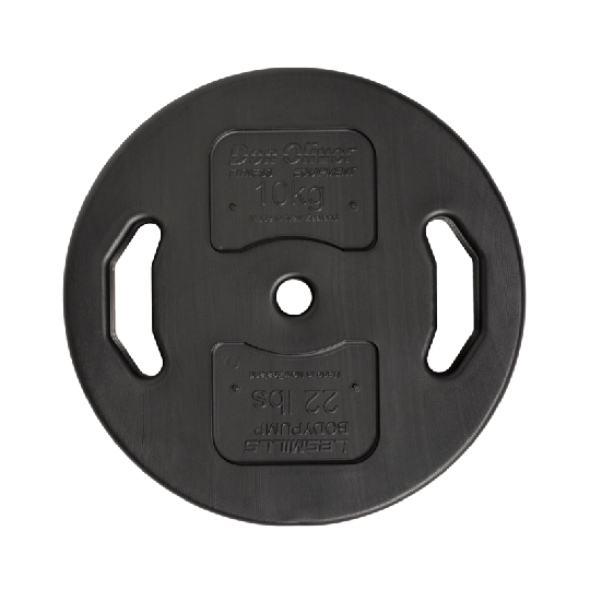 Les Mills Don Oliver BODYPUMP® Single 10kg Plate - Front View
