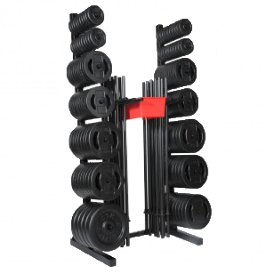 20 Set Don Oliver BODYPUMP® Rack with 20 Sets of BODYPUMP® Bars & Weights