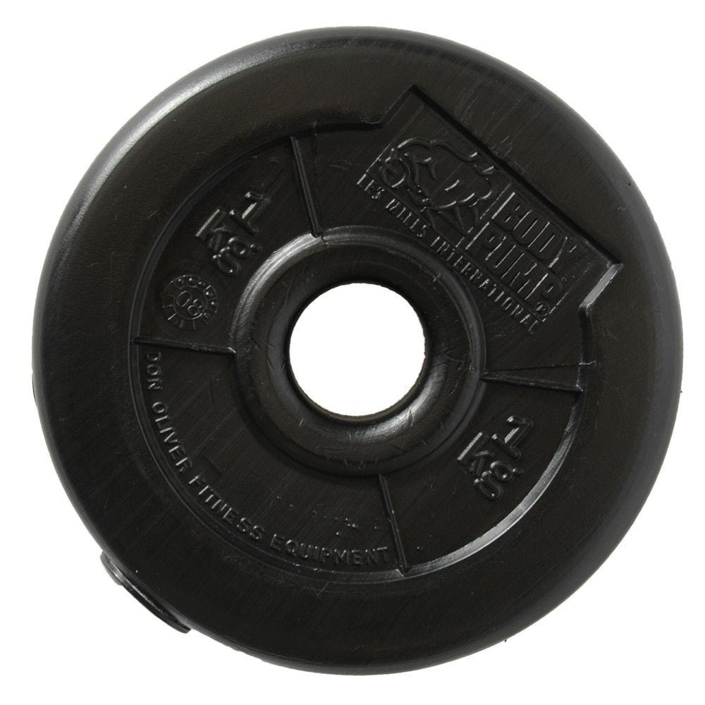 The plates are constructed of a robust 4mm thick polyethylene outer shell and filled with an iron sand compound. They will never rust, chip or need repainting. Don Oliver weights are also quieter than metal weights and less likely to damage gym floors if dropped.